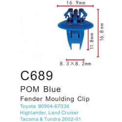 Clip Azul Moldura Toyota