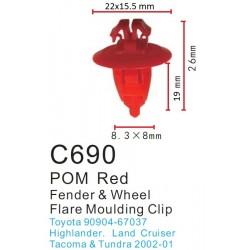 Clip Rojo Moldura Toyota (Amarillo)